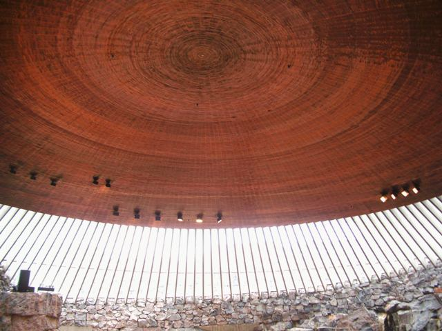 Rock Church, interior, Helsinki