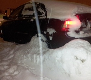 This is what happens when you leave your car parked outside in Helsinki for two weeks in the winter...