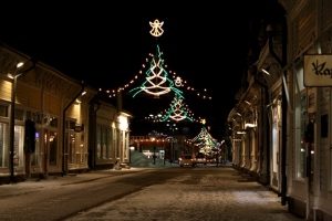 Christmas decoration in Old Town Rauma
