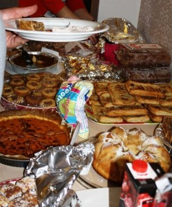 A portion of the dessert table!