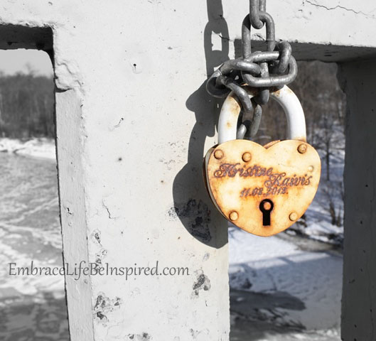 Love Padlock on the bridge over the Guaja River