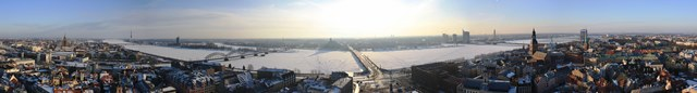 Riga Panorama from the top of St Peter's Church
