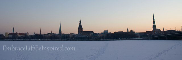 Riga Skyline at Sunrise