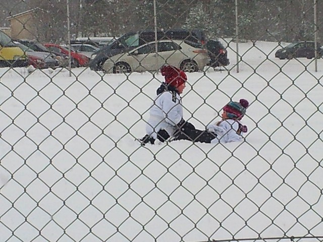 Snow Judo...or, just rolling around in the snow!
