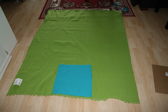 Finished underside of blanket