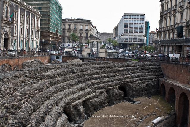 Roman Amphitheatre, Piazza Stesicoro, Catania Sicily