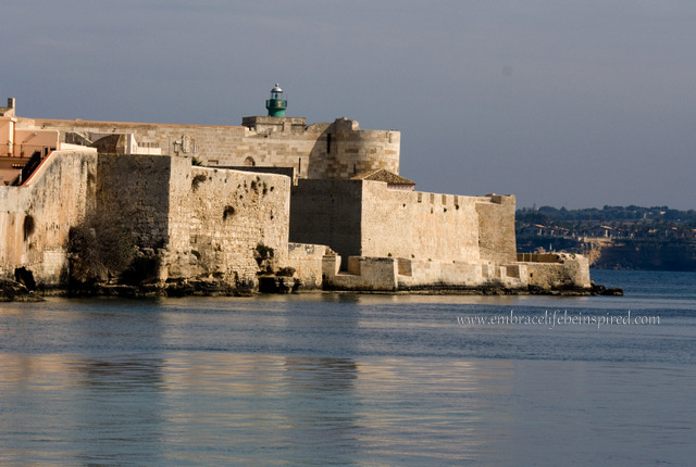 Castello Maniace, perched on a promontory at the south end of Ortygia, Syracuse Sicily