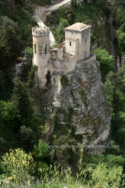Torretta Pepoli, built on the hillside under the Balio Towers in Erice