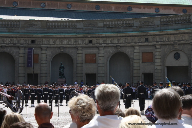 Changing of the guard, Royal Palace, Stockholm Sweden