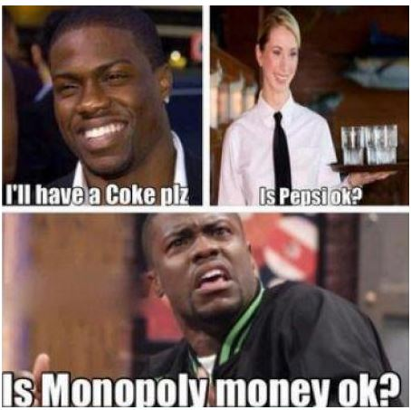 Is Monopoly money ok?