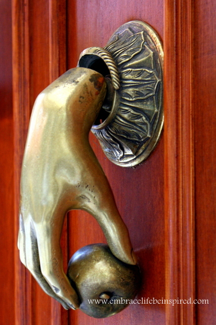 Door handle, Barcelona Spain