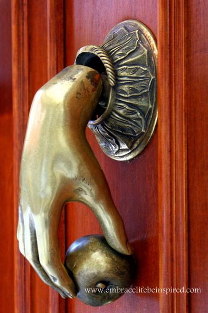 Door handle, Barcelona Spain