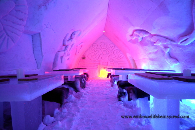 Ice restaurant, Arctic Snow Hotel